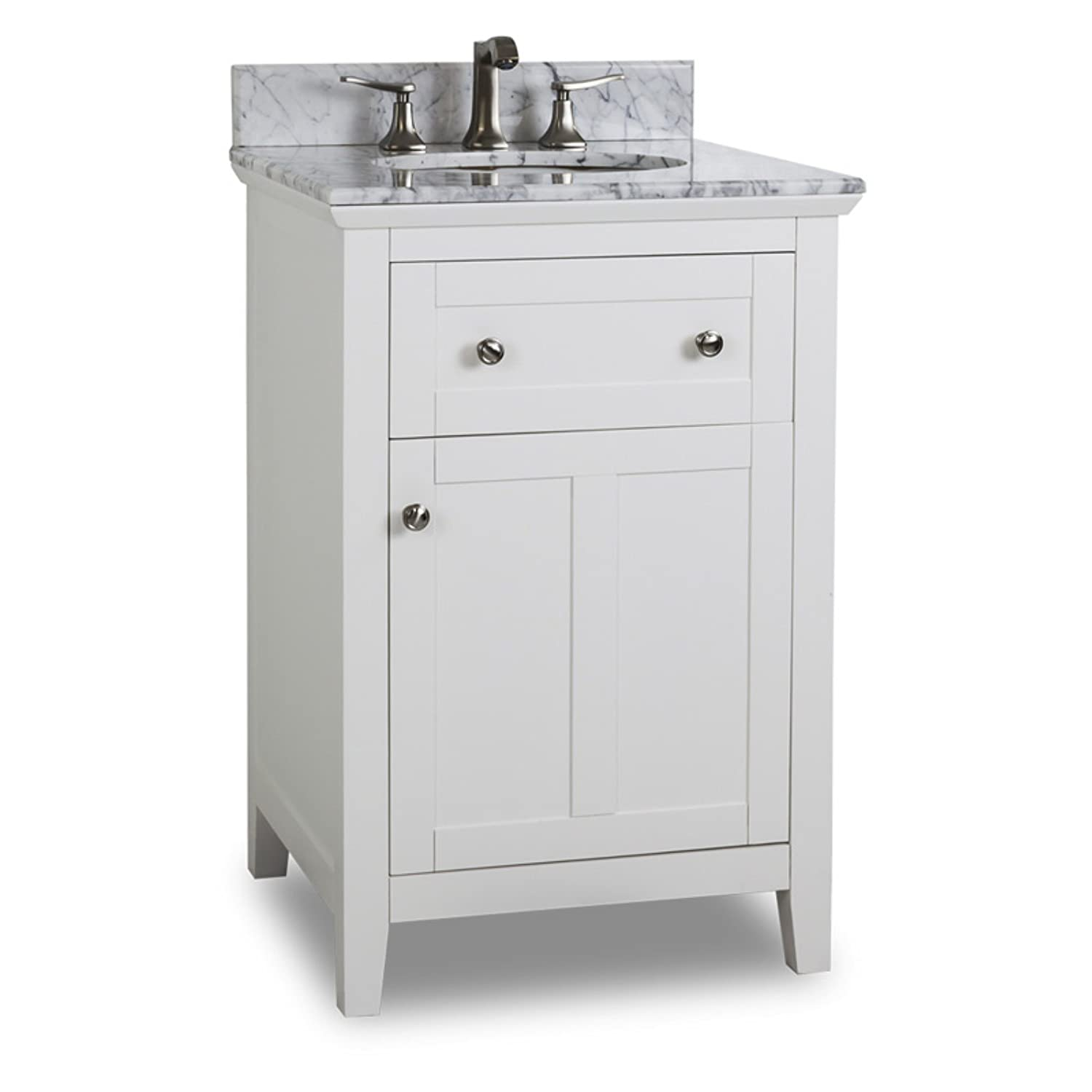 Amazon: Jeffrey Alexander Van10524t Chatham Shaker Vanity, White:  Home & Kitchen