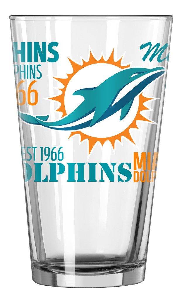 Miami Dolphins Official NFL 16 fl. oz. Spirit Pint Glass …