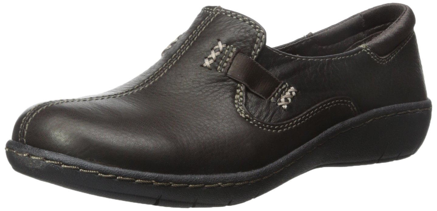 Skechers Women's Washington Closure Slip-On Loafer B00XNS6S6G 6 B(M) US|Dark Brown Leather