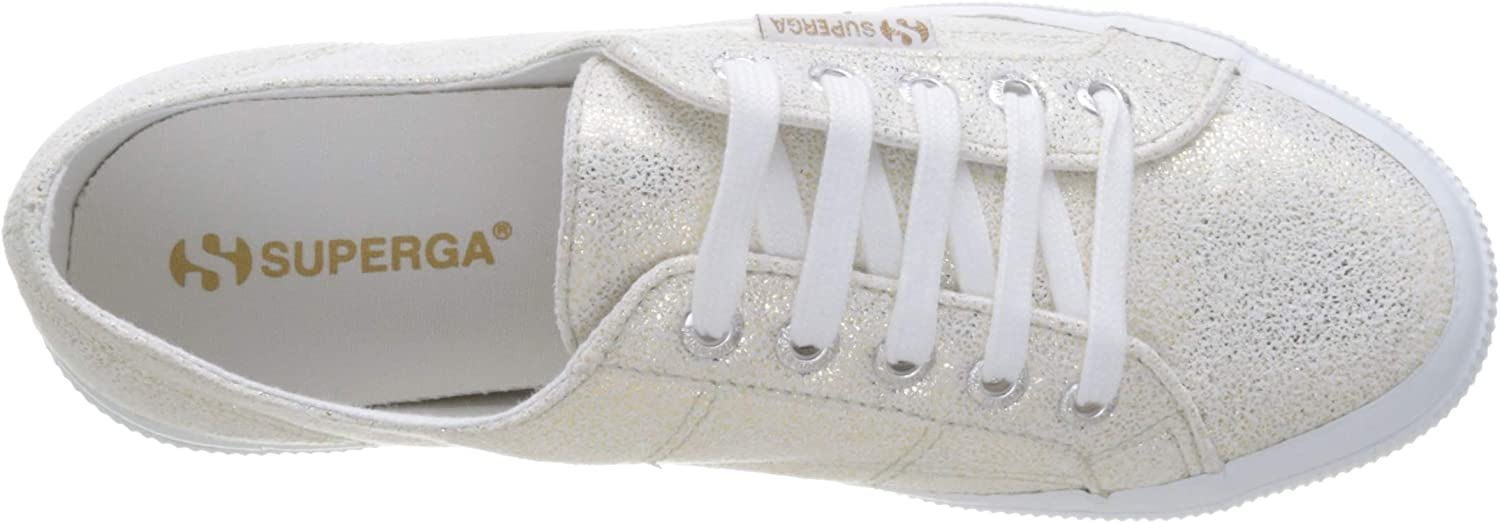 Superga 2750-JERSEYFROSTLAMEW Oro White Yellow Gold G70