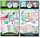 Classic Happy Planner Fill In Sticker Value Packs Bundle - Fill In Productivity and Fill In Budget Sticker Books - 2 Items
