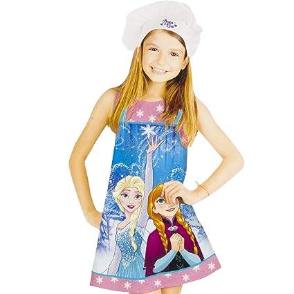 CARTOON WORLD Set Cucina Grembiule e Cappello Chef Cuoca Disney Frozen -  Elsa e Anna c7f75414c87a