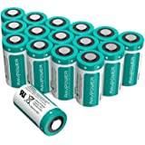 CR123A Battery RAVPower Upgraded Arlo Batteries 3V Non-Rechargeable 16-Pack, 1500mAh Each, 10 Years of Shelf Life for Arlo Cameras, Polaroid, Flashlight, Microphones and More