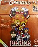 Janlynn Christmas Sugarplum Greeters Plastic Canvas Kit 10'' X 19'' Peace