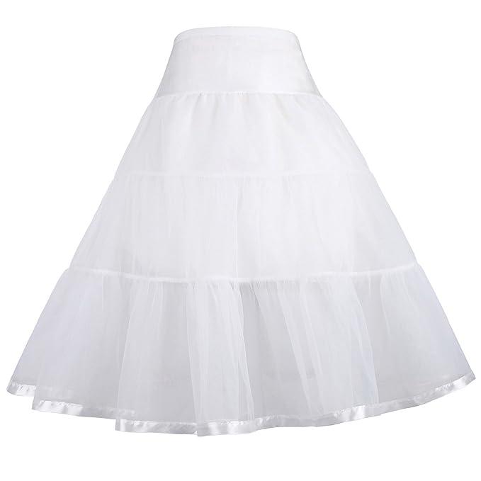 1950s Petticoat History  Little Girls Two Layers Voile Crinoline Tutu Petticoats Long/Short GRACE KARIN $14.99 AT vintagedancer.com