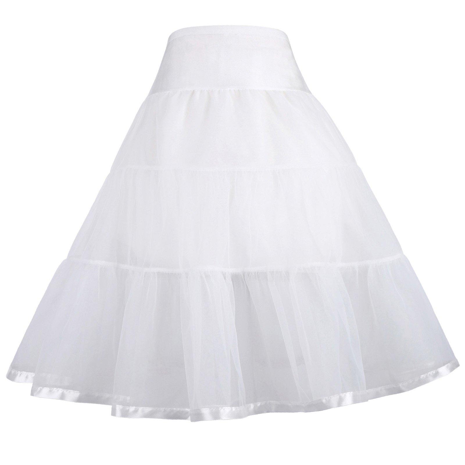 GRACE KARIN White Organza Toddler Tutu Girl Swing Petticoat 4-6 yrs 460-2