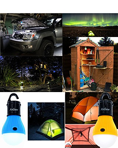 3Pack LED Tent Bulb, AnSaw Portable Lantern Emergency Night light for Camping, Hiking, Fishing, & Outdoor Lighting