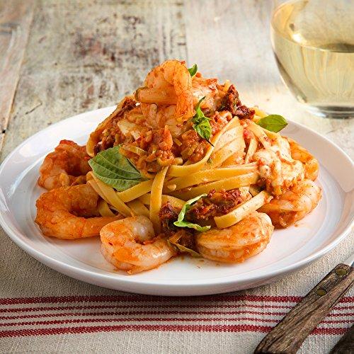 Shrimp Fettuccine Pasta and Fresh Mozzarella in a Tomato Cream Sauce by Chef'd (Dinner for 2)