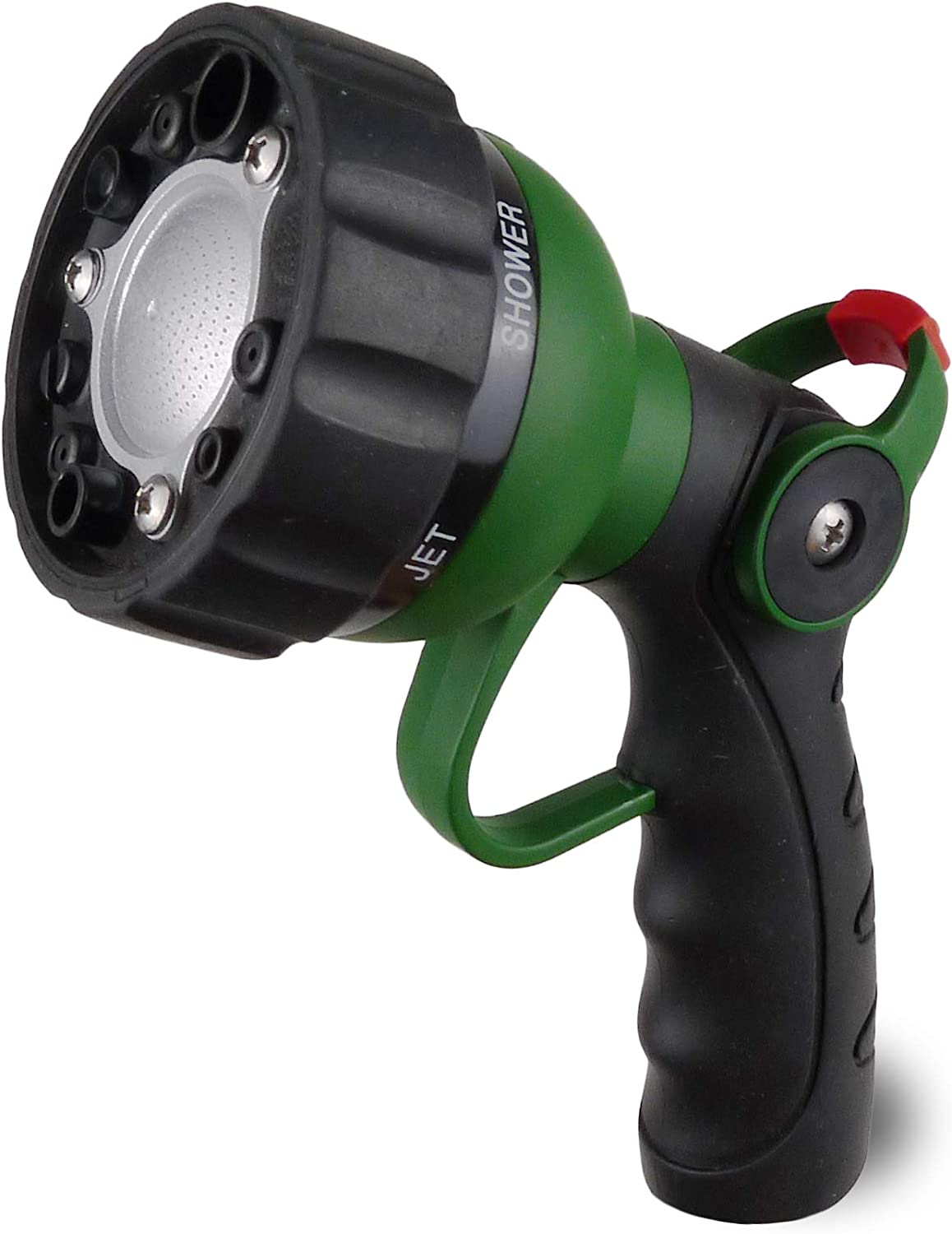 H2O WORKS Garden Hose Nozzle Thumb Control On Off Valve for Easy Water Flow Control, Heavy Duty Metal Garden Hose Nozzle with Adjustable Watering Patterns, Pefect for Car Washing and Pets Showering