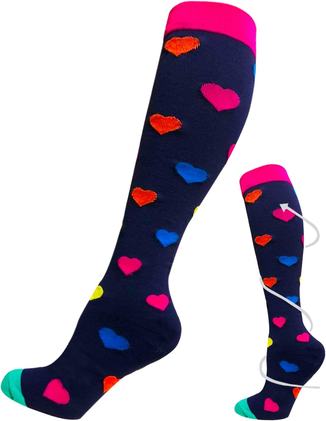 Nurses,Edema Travel ACTINPUT Compression Socks for Women /& Men 20-25 mmHg is Best Athletic Running Flight