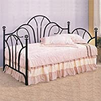 Bowery Hill Twin Metal Daybed in Black