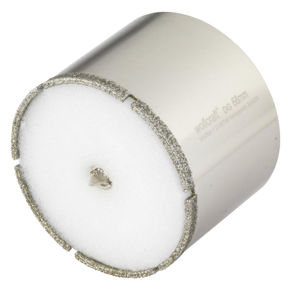 10 mm Schaft /Ø 45 Wolfcraft 5928000 1 Diamant-Lochs/äge Ceramic mit Schwamm
