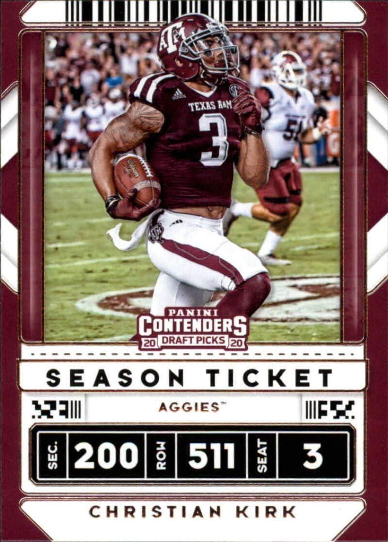 Amazon Com 2020 Contenders Draft Ncaa Football Season Ticket 16 Christian Kirk Texas A M Aggies Official Panini America Trading Card Collectibles Fine Art