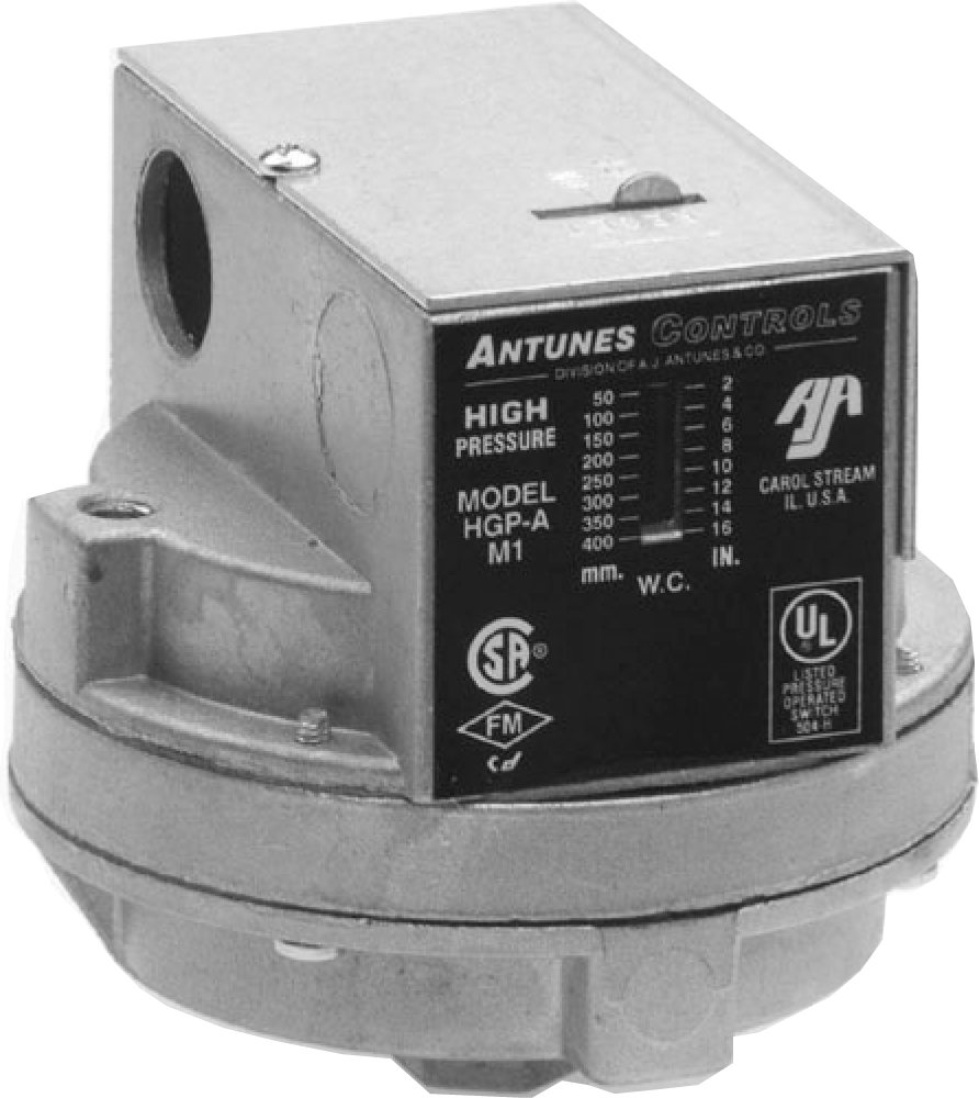 Antunes Controls 803112502 2 - 14''wc LGP-A Single Gas Switch