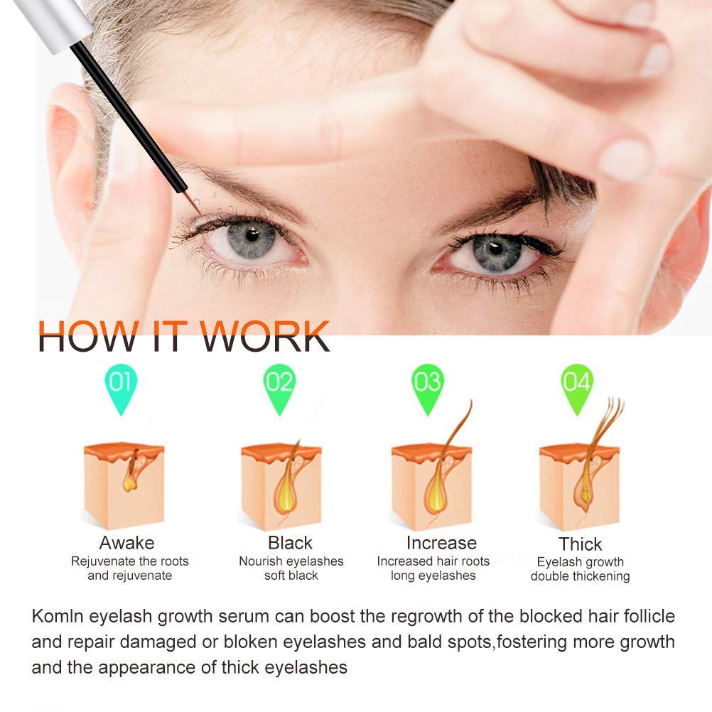 Amazon Komln Eyelash Growth Enhancer And Brow Serum And Eyebrow