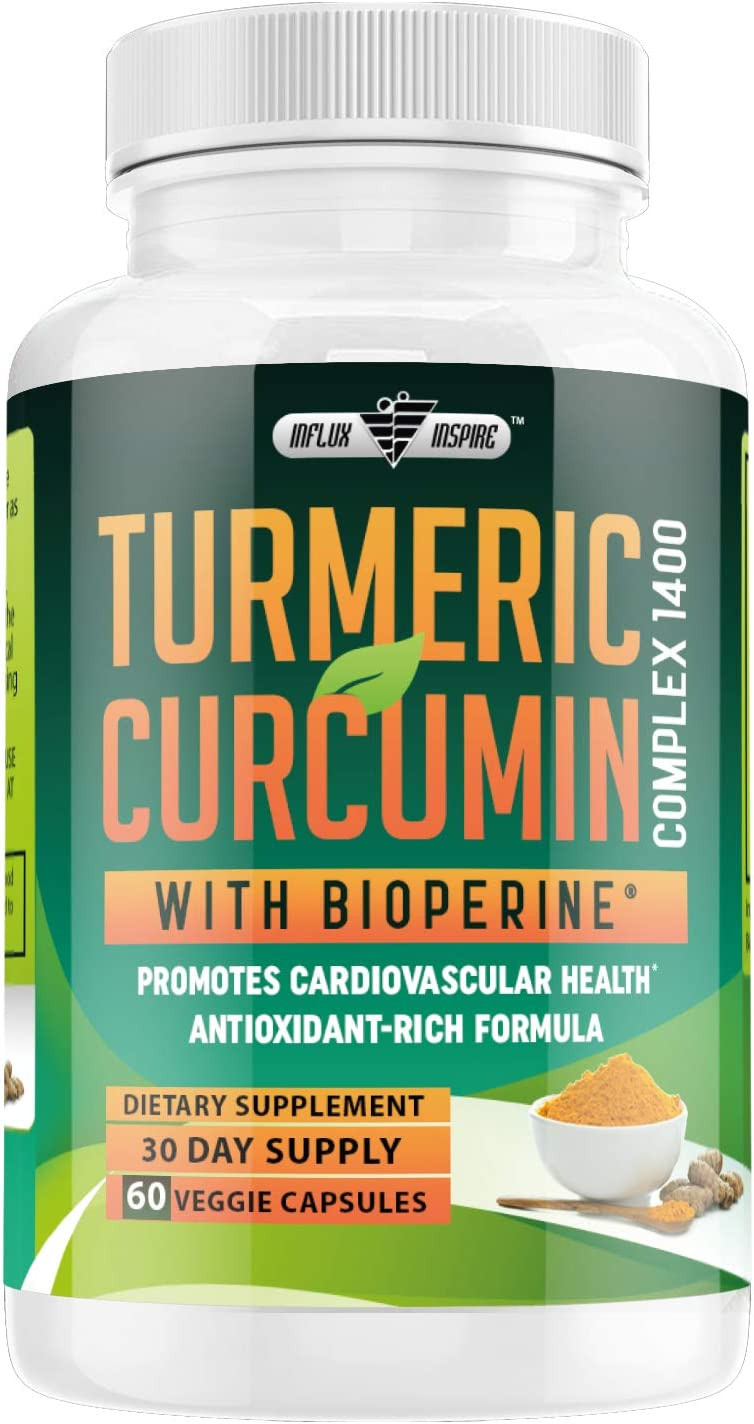 Turmeric Curcumin with Bioperine Supplement – Natural Anti-Inflammatory Antioxidant Aid Non GMO Supplement for Men and Women