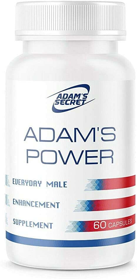 All Natural Adam's Power Daily Male Energy Supplement Effective Amplifier for Strength, Energy and Endurance