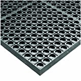Wearwell Rubber 478 WorkSafe Heavy Duty Anti-Fatigue Mat, for Wet Areas, 3' Width x 20' Length x 1/2'' Thickness, Gray