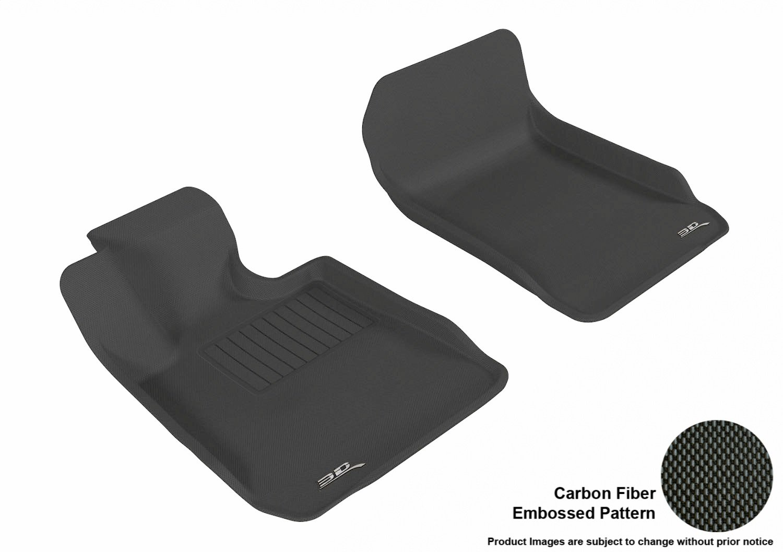 E83 3D MAXpider Second Row Custom Fit All-Weather Floor Mat for Select BMW 3 Series Sedan // X3 Black Models L1BM00621509 Kagu Rubber E90