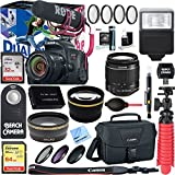 Canon EOS Rebel T7i Digital SLR Camera Video Creator Kit + 18-55mm Zoom Lens Accessory Bundle (18-55mm Lens Video Creator Kit)