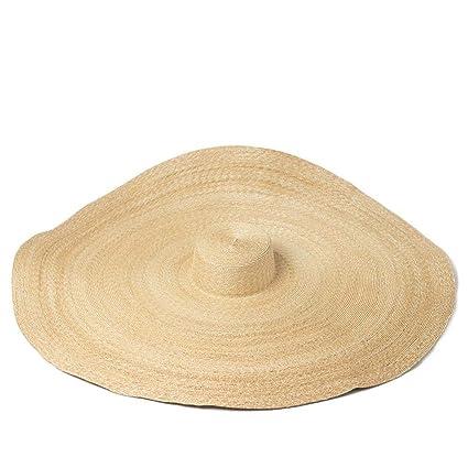 Defect Sombrero de Paja de Las señoras Aleros Grandes Europeos y  Americanos 17700f2f21b