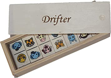 Shopzeus Dominó Infantil en Caja de Madera con Nombre Grabado: Drifter (Nombre de Pila/Apellido/Apodo): Amazon.es: Juguetes y juegos