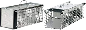 Havahart 0745 One-Door Animal Trap for Chipmunk, Squirrel, Rat, and Weasel, X-Small & 1025 Small 2-Door Live Animal Trap – Ideal for Catching Squirrels, Chipmunks, Rats, Weasels