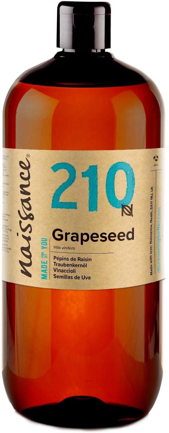 Naissance Aceite Vegetal de Semillas de Uva n. º 210 – 1 Litro - Natural, vegano y no OGM