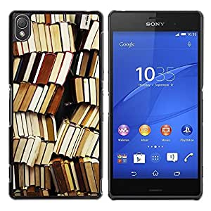 Design for Girls Plastic Cover Case FOR Sony Xperia Z3 Book Library Reading Teacher School OBBA