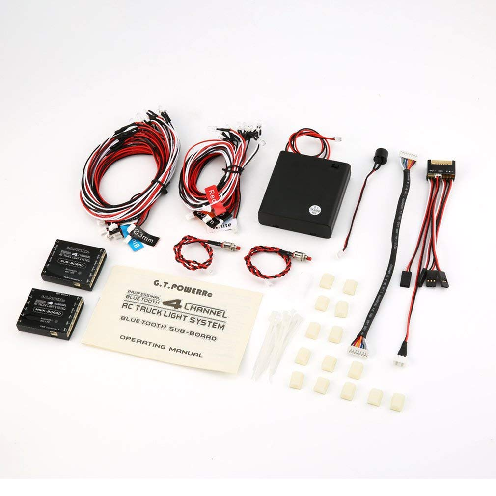 GT Potere Professionale di 14 Tipi di modalità Lampeggiante con blutooth Scheda Principale a 4 canali RC Camion Light System Accessori Auto