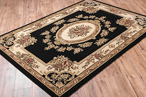 - Well Woven Timeless Le Petit Palais Black Traditional Area Rug 2'3