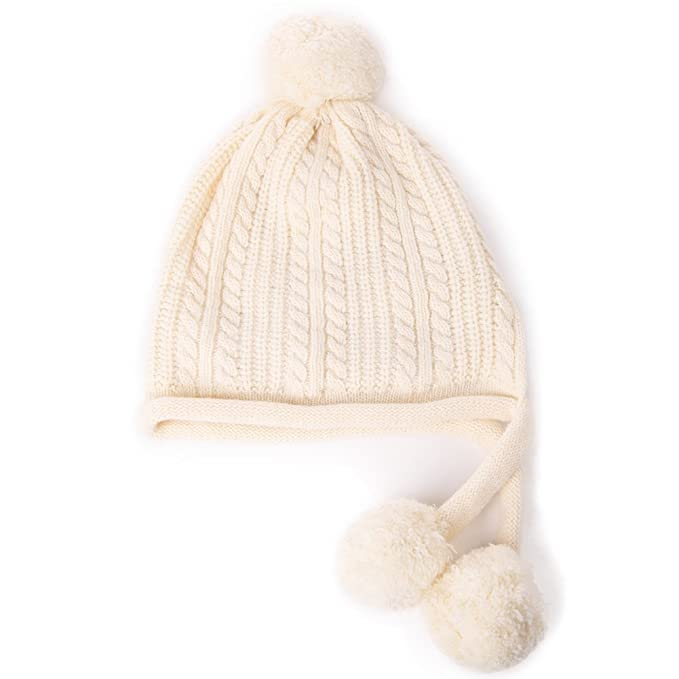 56877bb9fec Siggi Wool Peruvian Beanie Earflap Hat Fleece Lined Womens Winter Snow Ski  Hat Cold Weather Beige