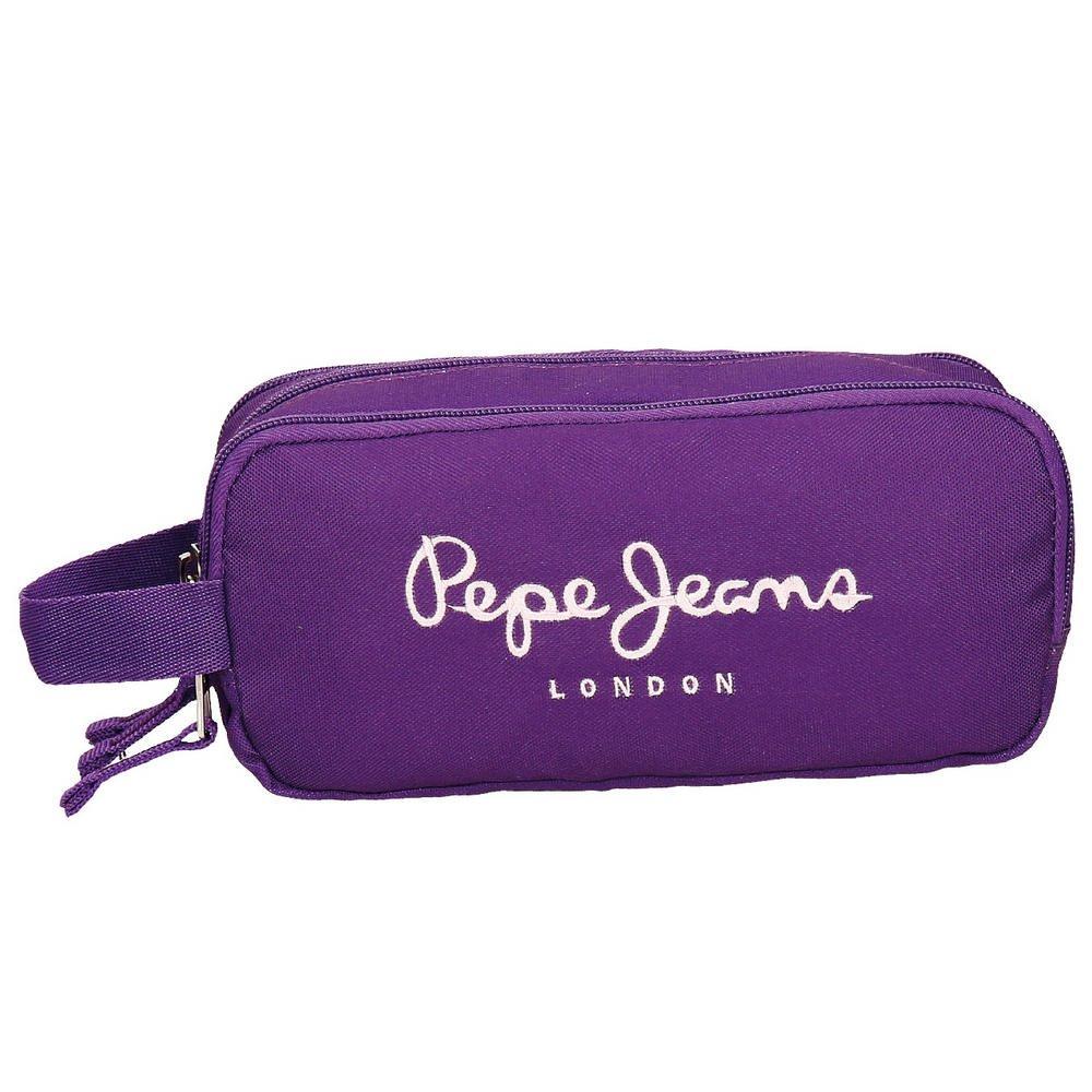 Pepe Jeans Plain Color Neceser de Viaje, 1.98 litros, Color Violeta