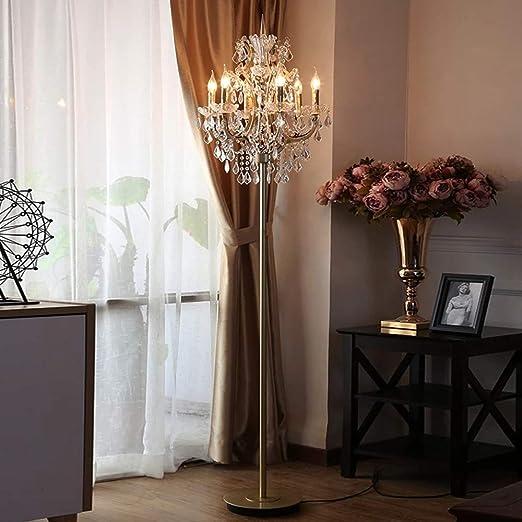 Lámparas de pie de cristal para sala de estar Lámpara de pie antigua Lámpara de pie de cristal para dormitorio Iluminación moderna de pie Cristal: Amazon.es: Hogar