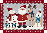 Winter Santa and Friends Christmas Novelty Rug Rug Size: 5'4'' x 7'8''