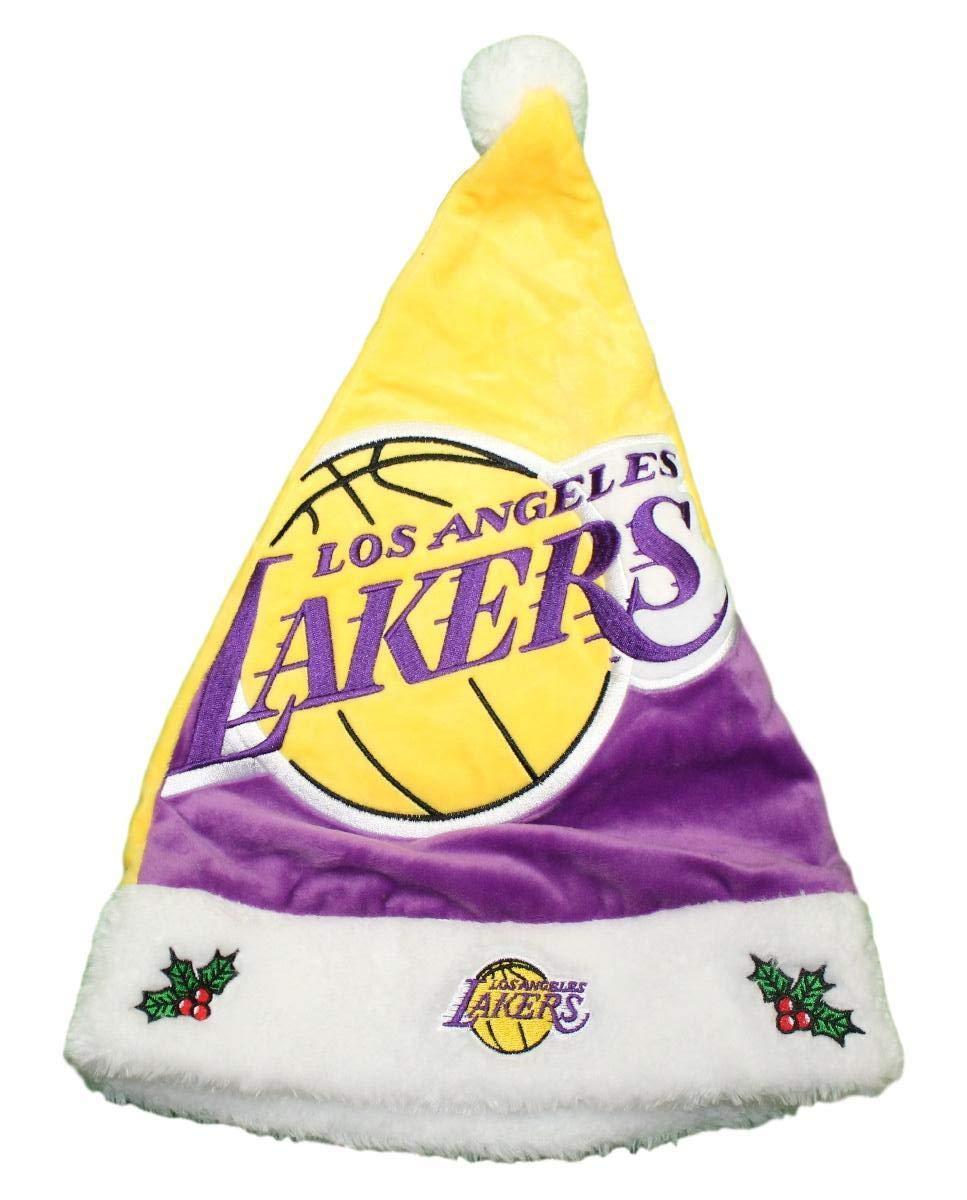 75b0ce2fa9 Forever Collectibles Los Angeles Lakers 2018 NBA Basic Logo Plush Christmas Santa  Hat H10NB18LAL Xmas