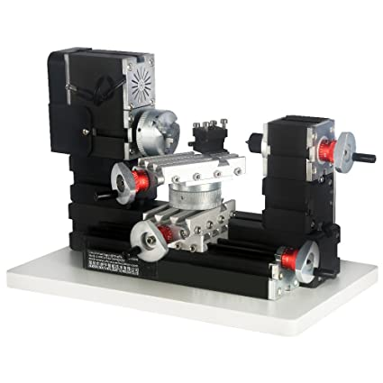 60W 12000 rpm Big Power Mini Metal Lathe TZ20002M New DIY Tools Best gift for children and students