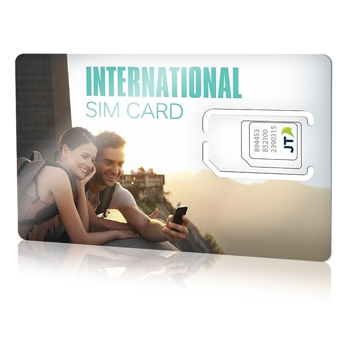 ekit-Tarjeta SIM Internacional con €8,00 crédito para Europa, Norteamérica, el Caribe y más