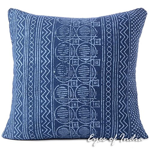 decorative block print cushion floor