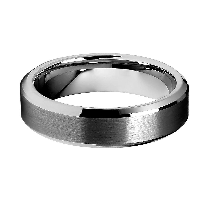 Amazon 6mm Beveled Edge Men s Tungsten Wedding Band Jewelry