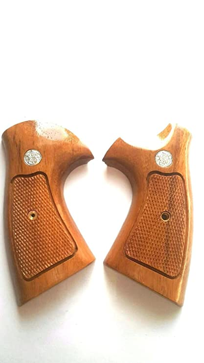 Amazon.com : HARDWOOD K FRAME SQUARE BUTT SMITH AND WESSON HANDCRAFT ...