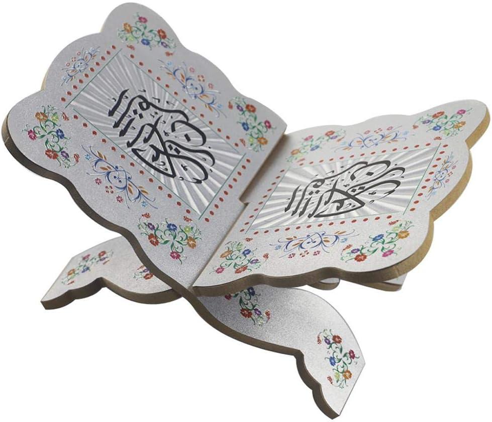 supporto per libro di preghiere Eid Mubarak Supporto per libri religioso per la decorazione della casa del Ramadan MezoJaoie Supporto per libri in legno