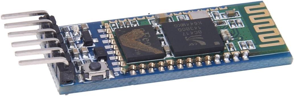 SODIAL(R) Modulo de Transceptor RF inalambrico de 6 pines serie HC-05 RS232 con plano posterior
