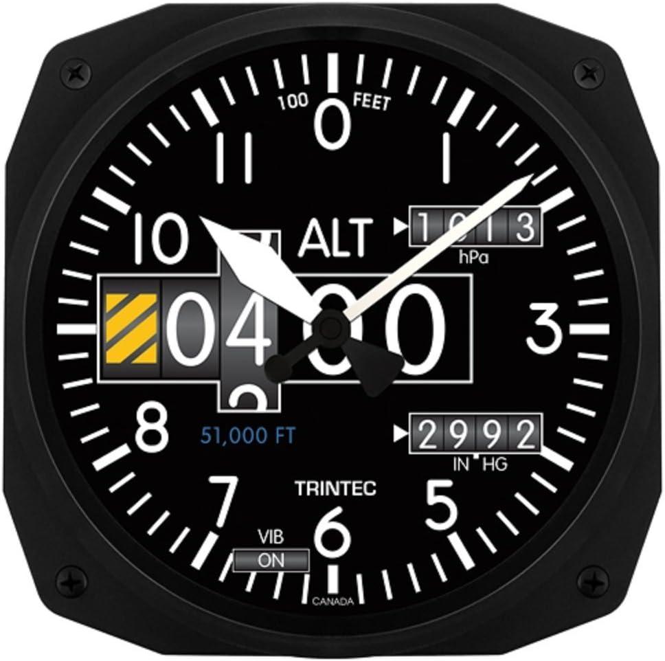 "Trintec 3020 10"" Aviation Modern Altimeter Instrument Style Wall Clock"