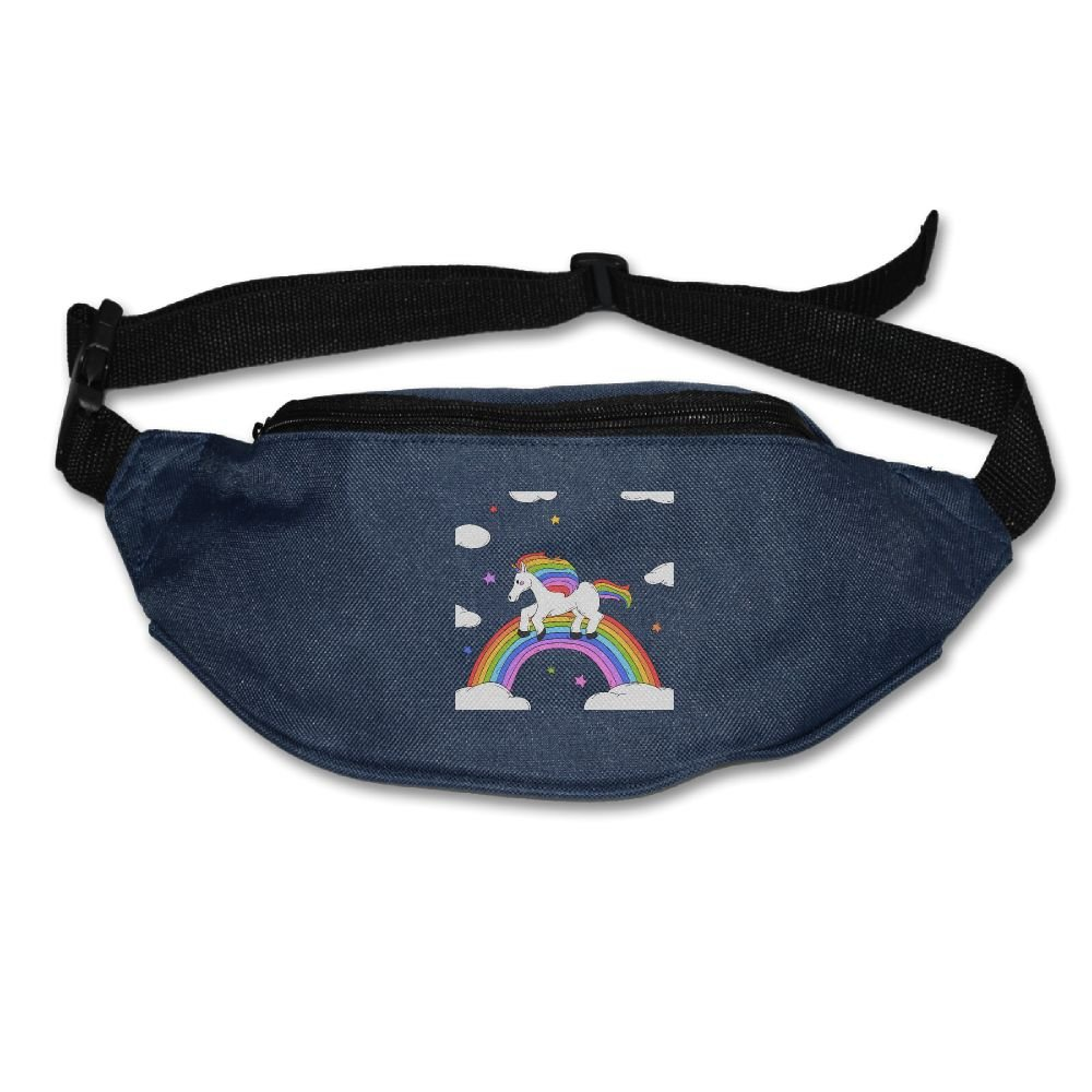 on sale Janeither Unisex Pockets Unicorn With Rainbow Fanny Pack Waist Bum  Bag Adjustable Belt 46b66bfd1a10e