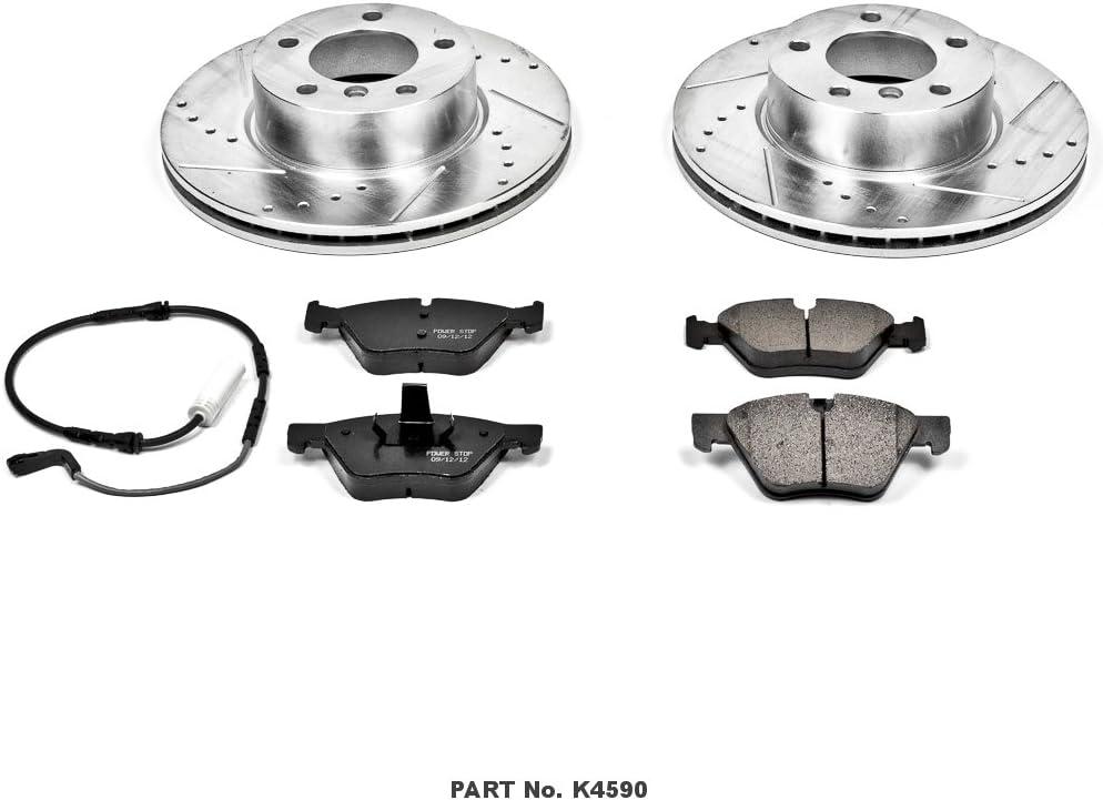 Power Stop K4590 Front Brake Kit with Drilled//Slotted Brake Rotors and Z23 Evolution Ceramic Brake Pads