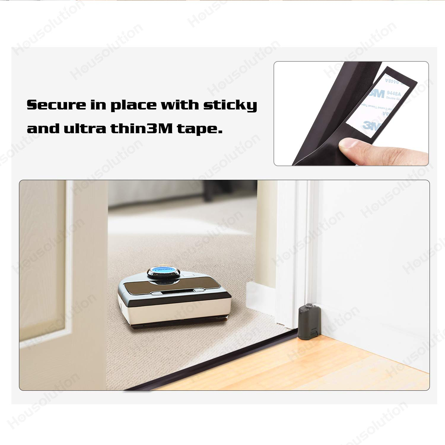 Housolution 4m Cinta Magnética Flexible, Trabaja para Neato Robotic Aspirador, Cintas Alternativas de Accesorios, Negro: Amazon.es: Electrónica