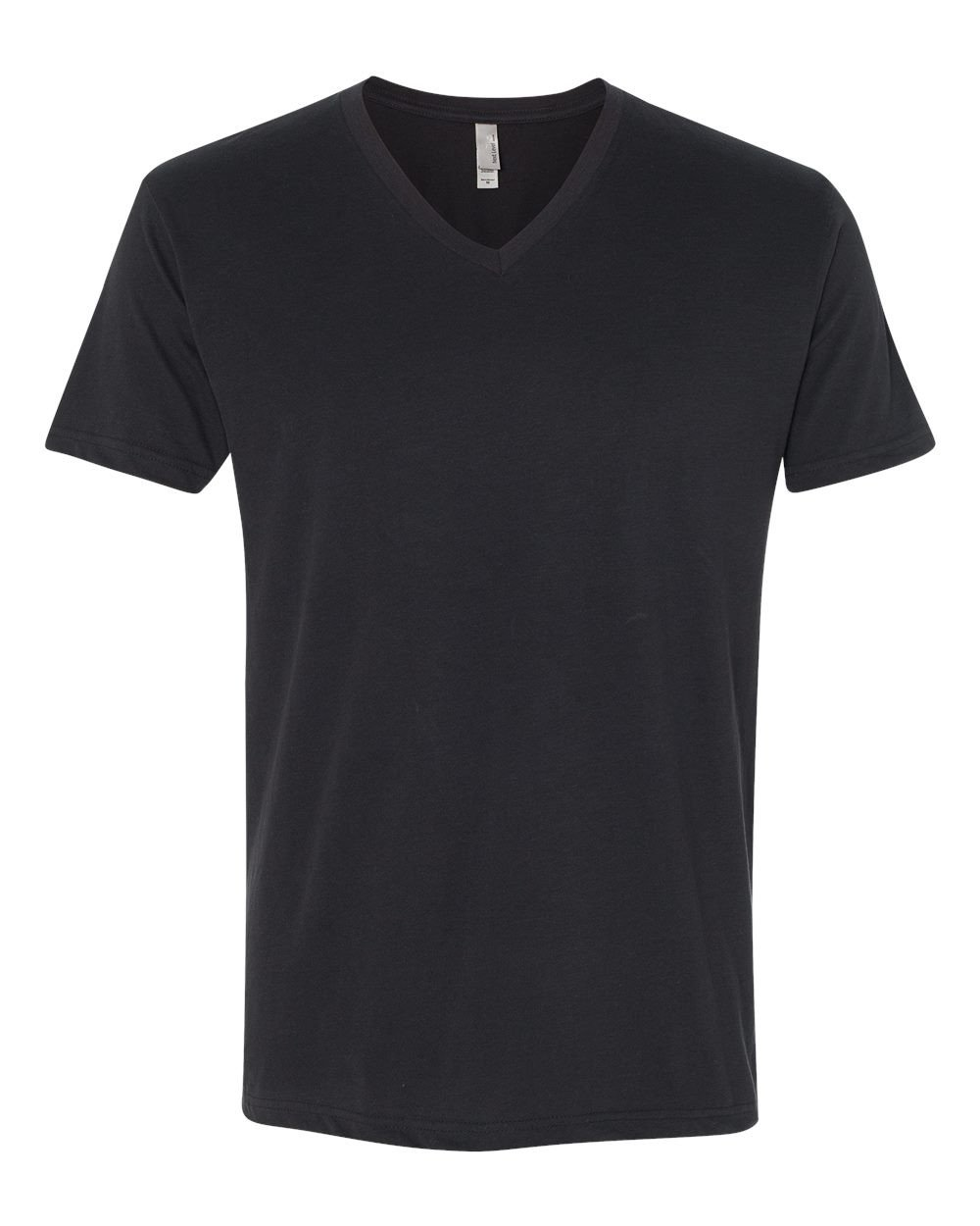 Next Level Apparel 6440 Mens Premium Fitted Sueded V-Neck Tee - Black, Large by Next Level