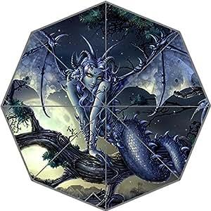 Custom DIY Good Quality Cute Fantasy Vampire Pattern Foldable Waterproof Sunny Rain 43.5 inch Umbrella