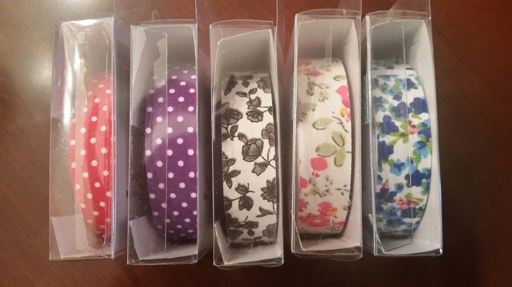 Fabric Washi Tape Decorative DIY Tape 1.5 X 500cm Assorted Set of 5 by Greenbrier (Image #2)